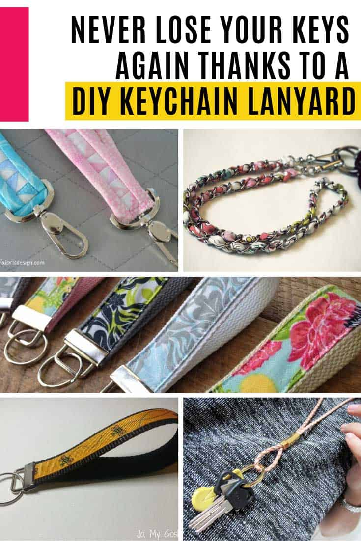 So many gorgeous lanyard keyrings to make! These are perfect for people who need access to their keys throughout the day because they can wear them around their necks, or slip them around their wrist.