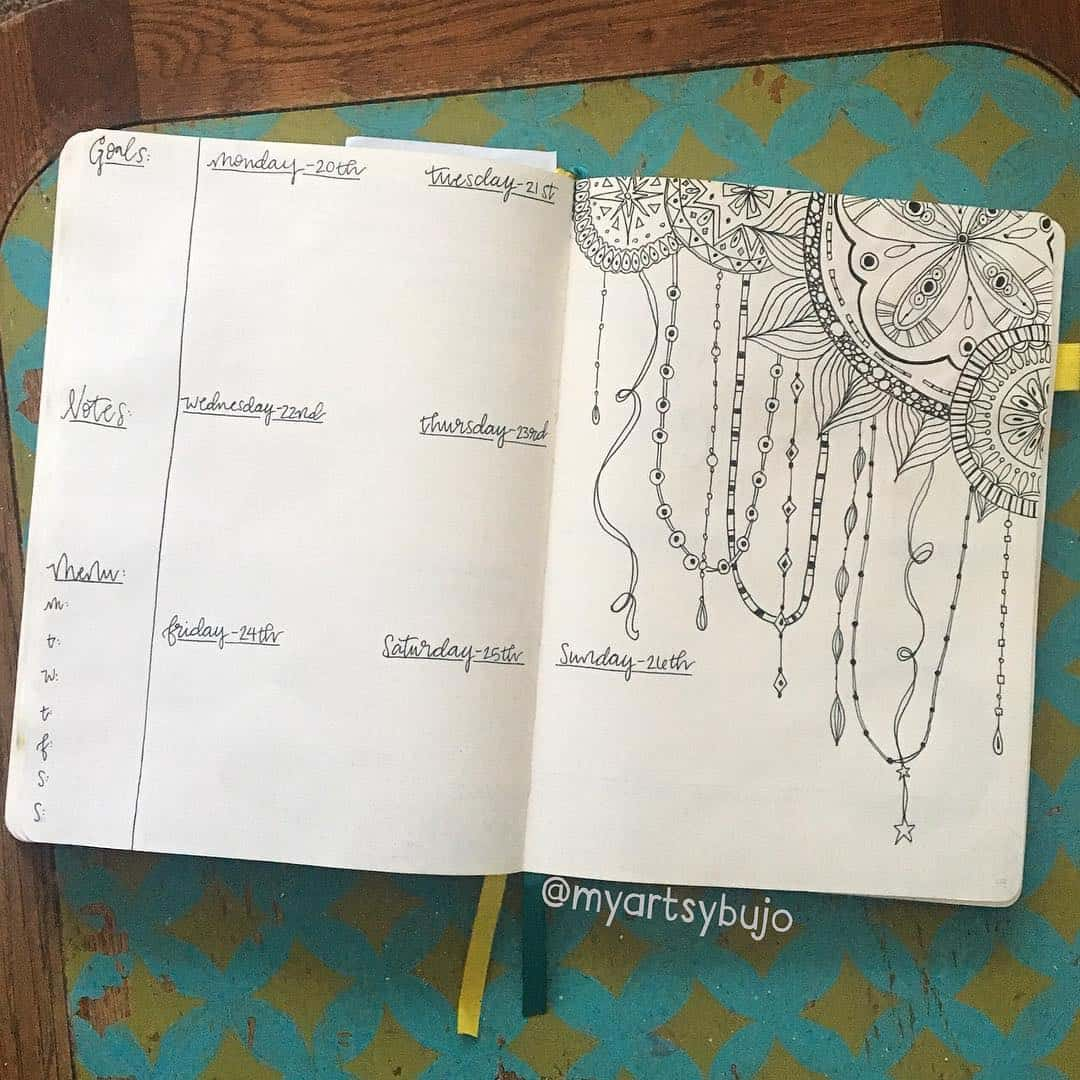 Illustration that could double as a mood tracker