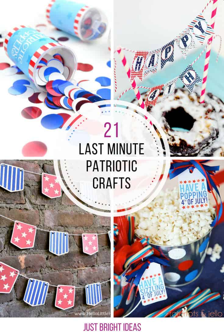 These last minute patriotic crafts just saved my 4th of July weekend!