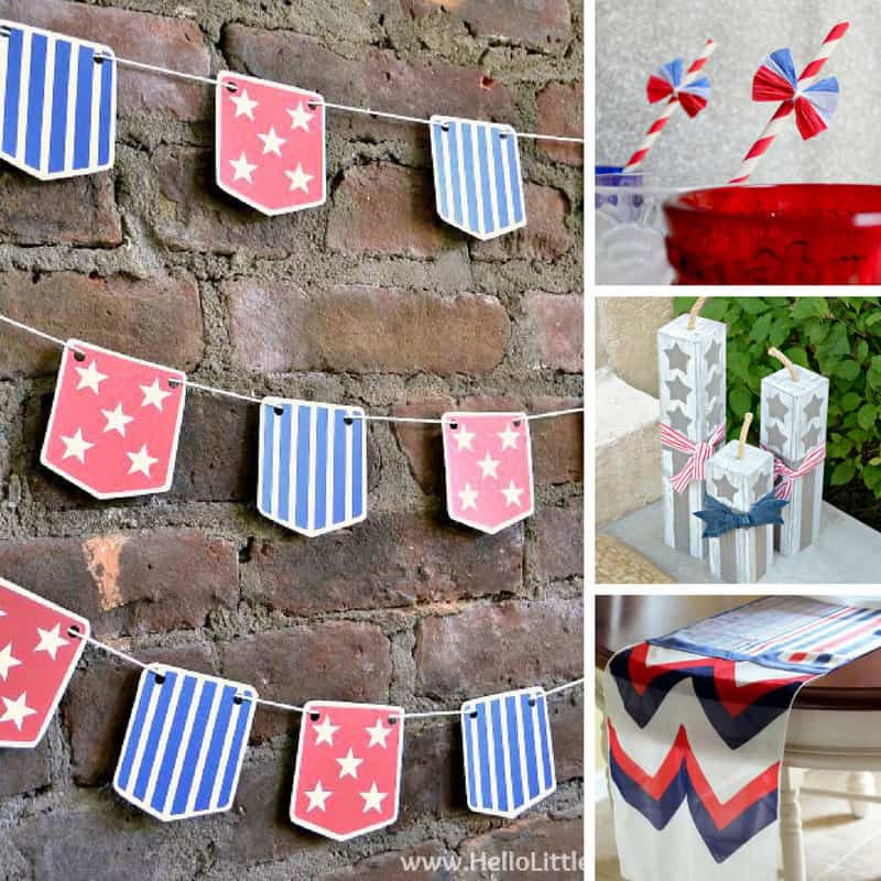 Loving these last minute patriotic crafts!