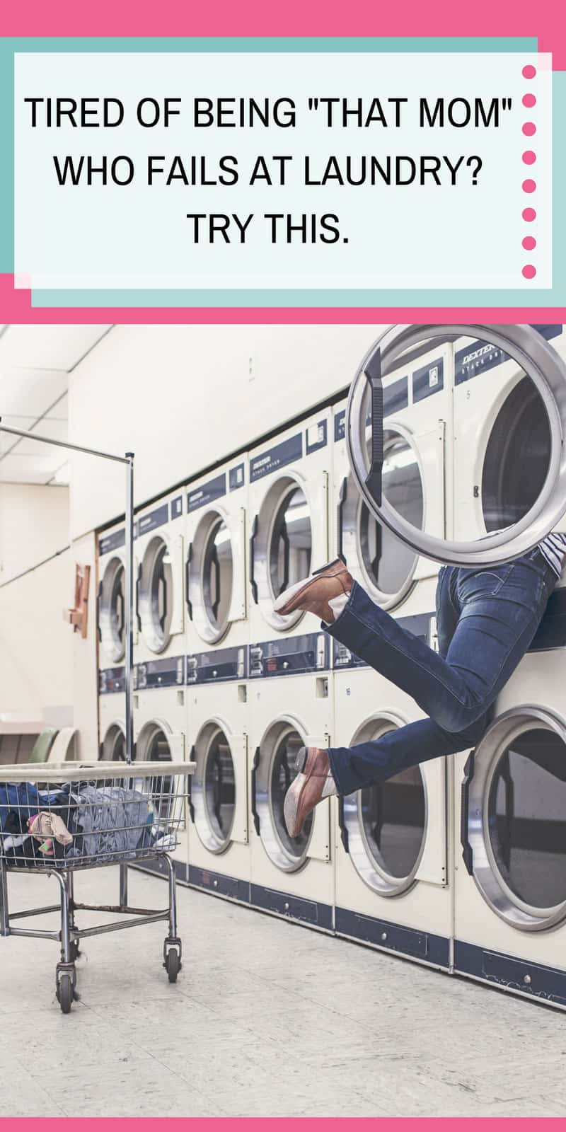 If you're tired of failing at laundry you need to check out our load a day system with a free printable to help you keep on top of the dirty washing!