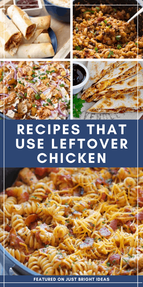 If you always find yourself wondering what to do with leftover bbq chicken these recipes will become your BFF!