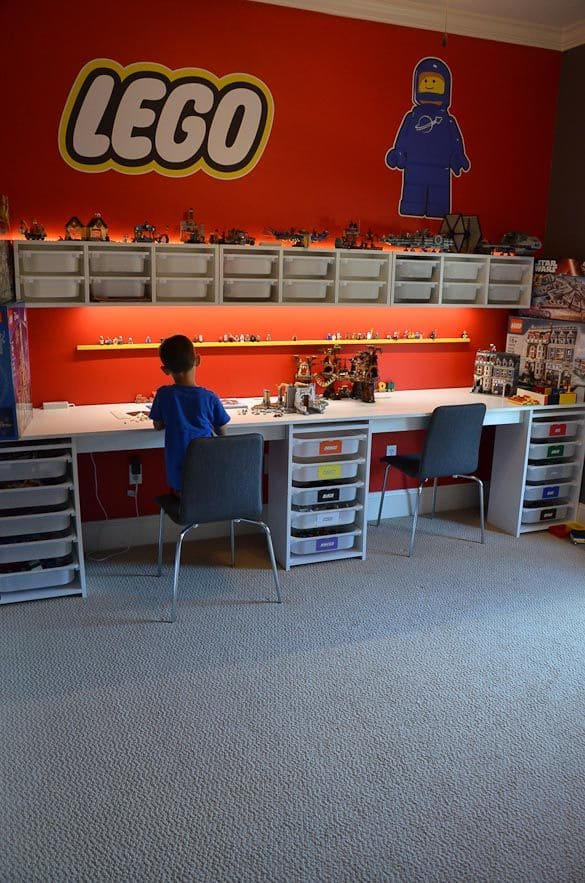Lego Desks with Brick Storage