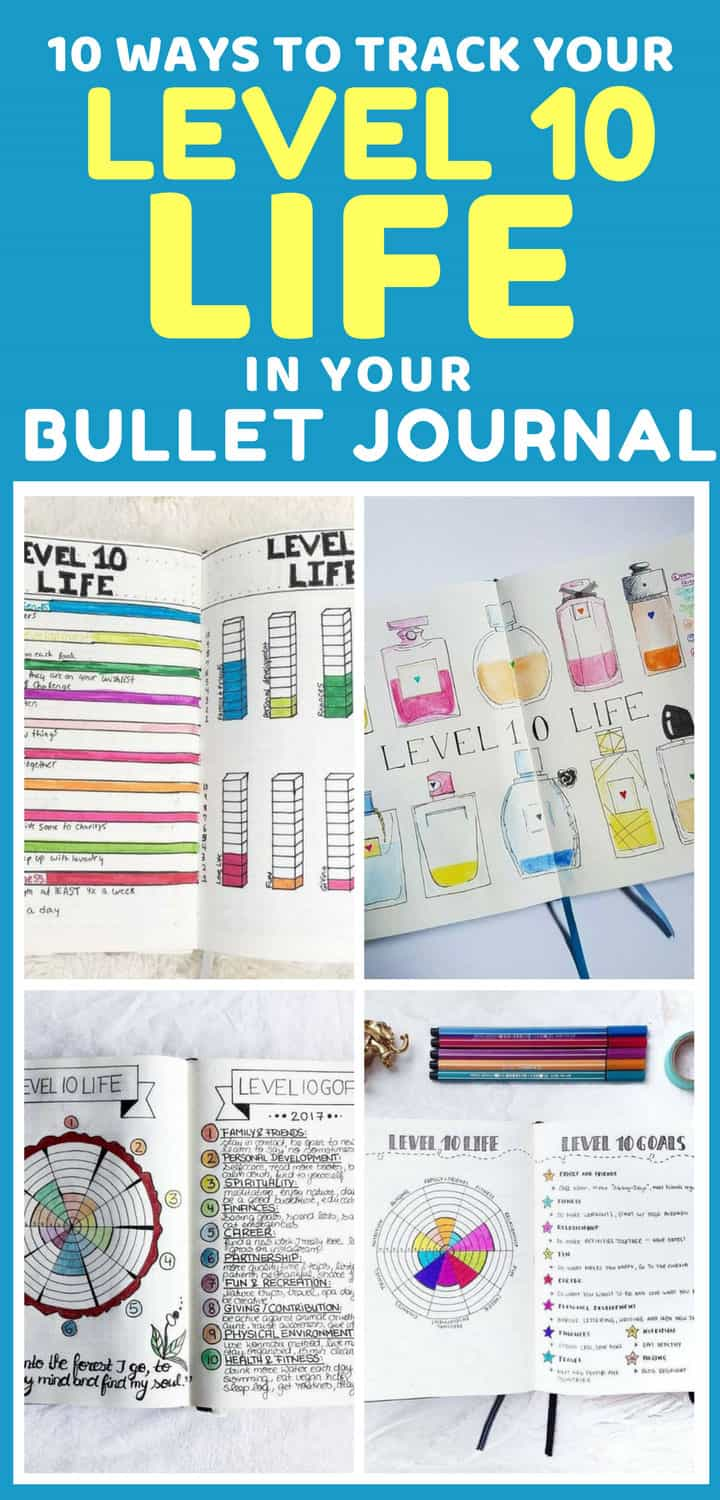 Level 10 Life Bullet Journal Tracker Spreads