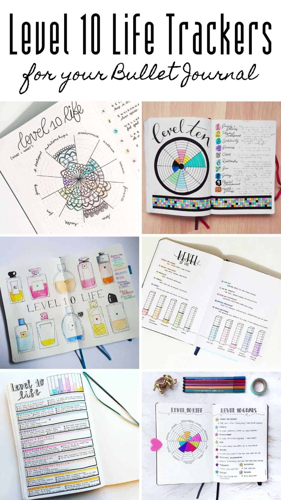 Find out how to track your level 10 life in your bullet journal with these clever tracker spreads #bulletjournal