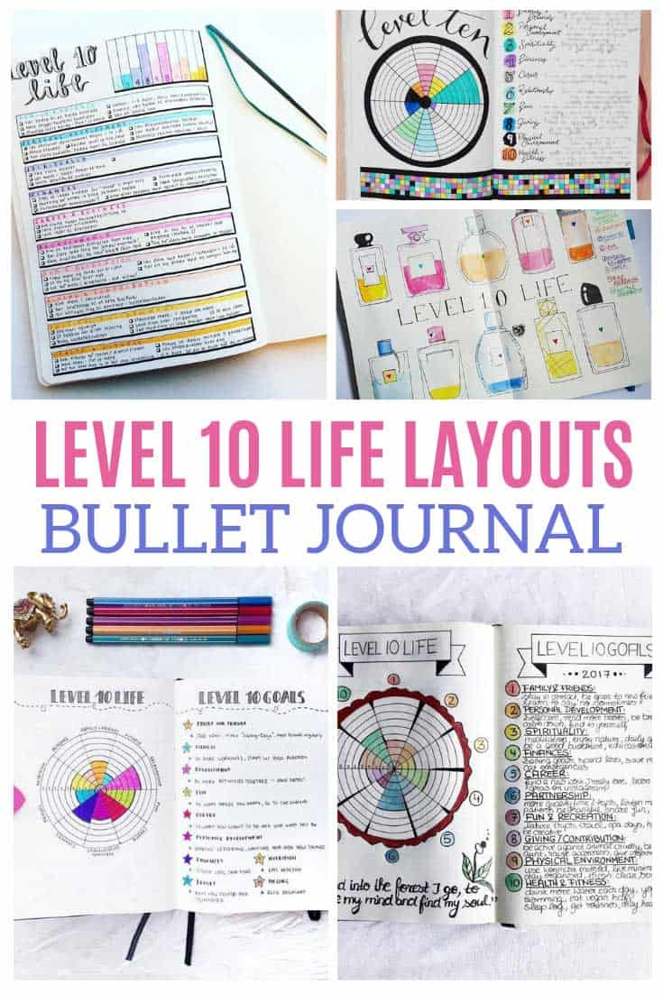 The Level 10 Life is going to help me rock my personal goals this year and these bullet journal layouts are what I need to track my progress!