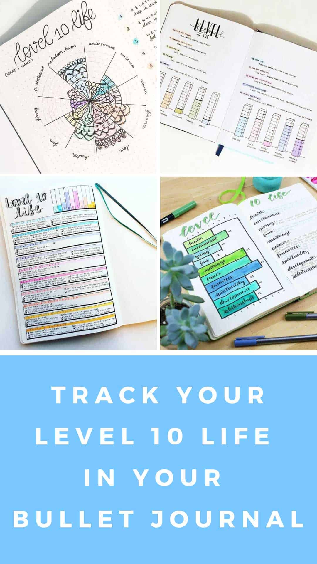 10 Ways to Track Your Level 10 Life in Your Bullet Journal