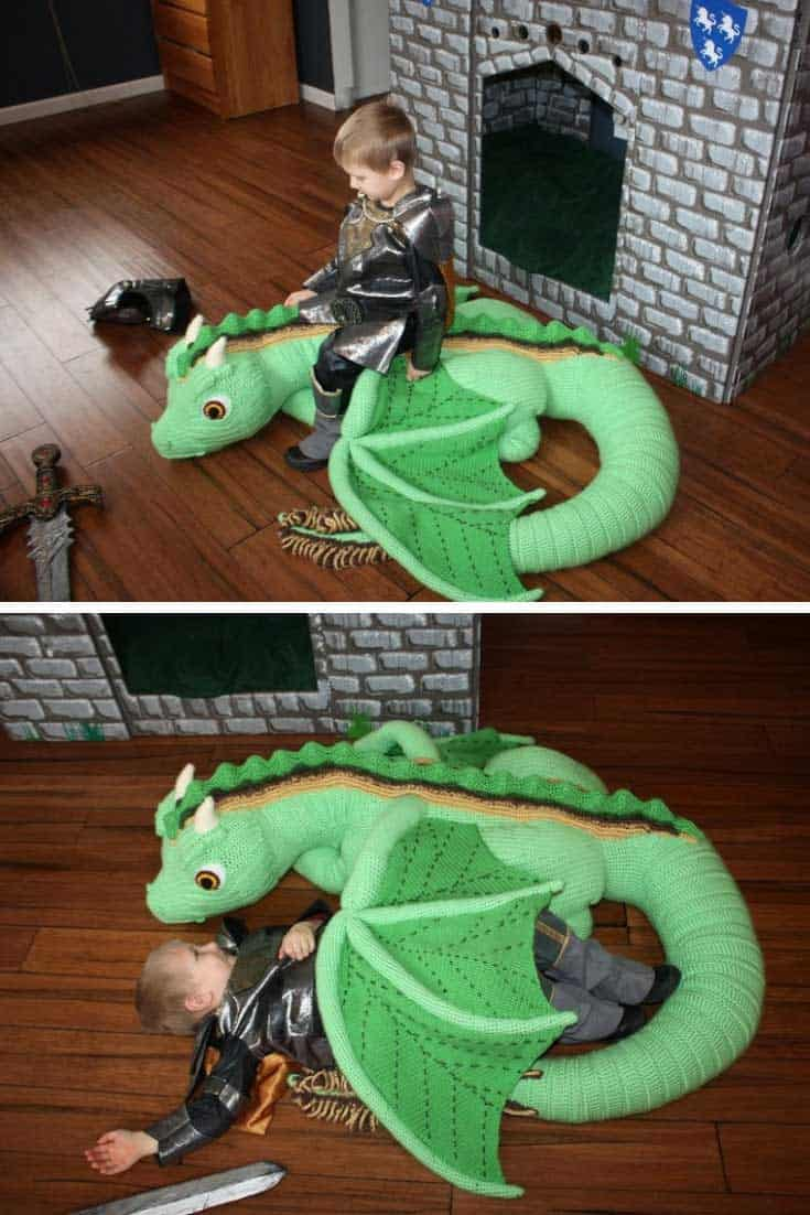 This life sized crochet dragon is AMAZING!