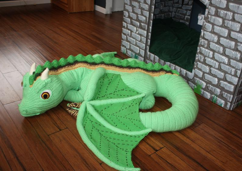 OMG - a life sized baby dragon toy you can crochet!