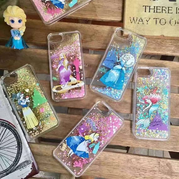 Liquid Glitter Phone Case Disney Princesses
