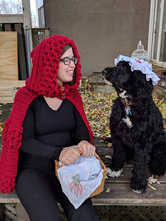 Little Red Riding Hood crochet halloween costume