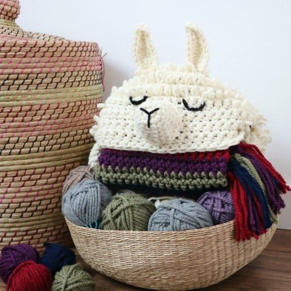 Llama Hooded Blanket Crochet Pattern