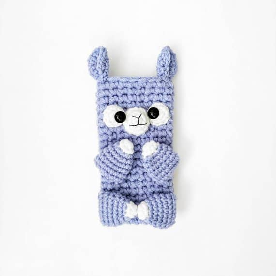 Llama Crochet Phone Sleeve Case