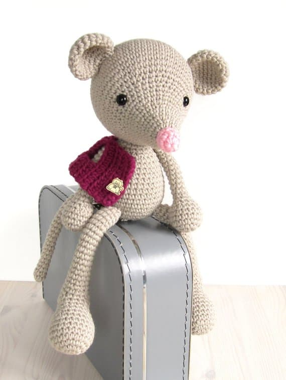 Long Legged Mouse Crochet Pattern