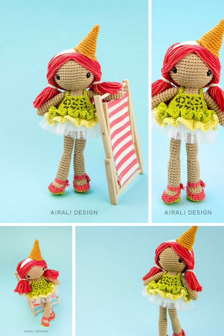 Lorena the ice-cream doll _ amigurumi crochet pattern