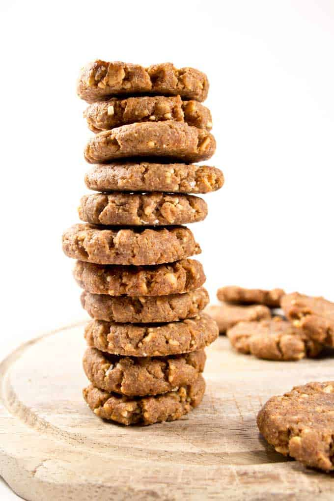 Low Carb Peanut Butter Cookies GF SF