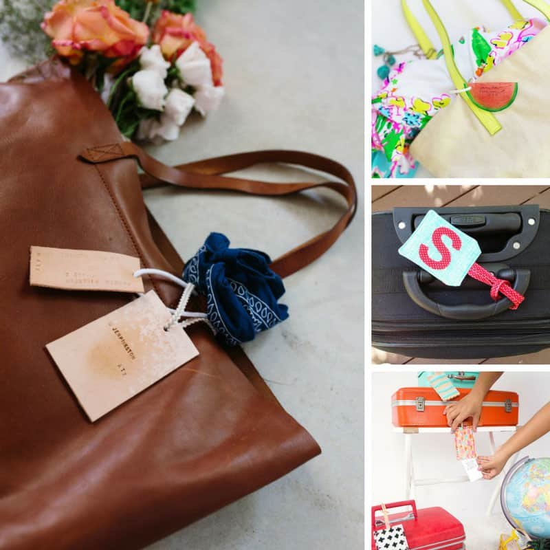 So many great DIY luggage tag crafts!