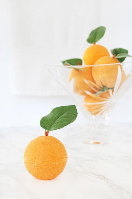 Luscious DIY Orange Blossom Bath Bombs