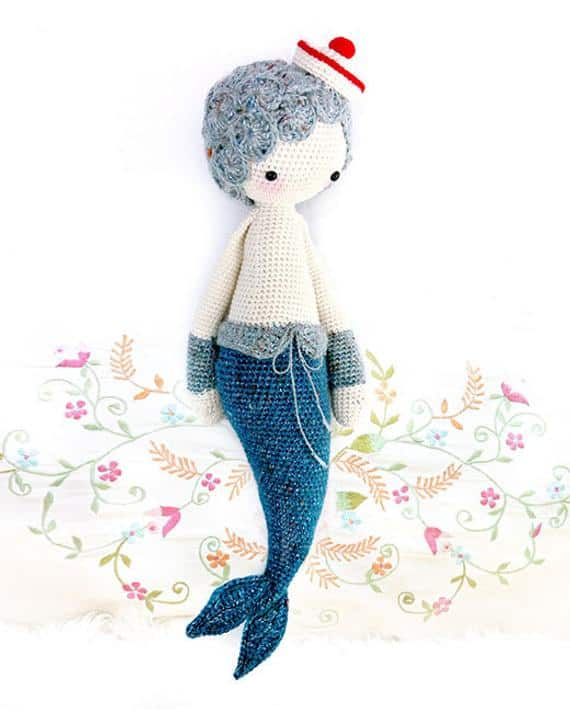 Mici the Mermaid Boy Crochet Pattern