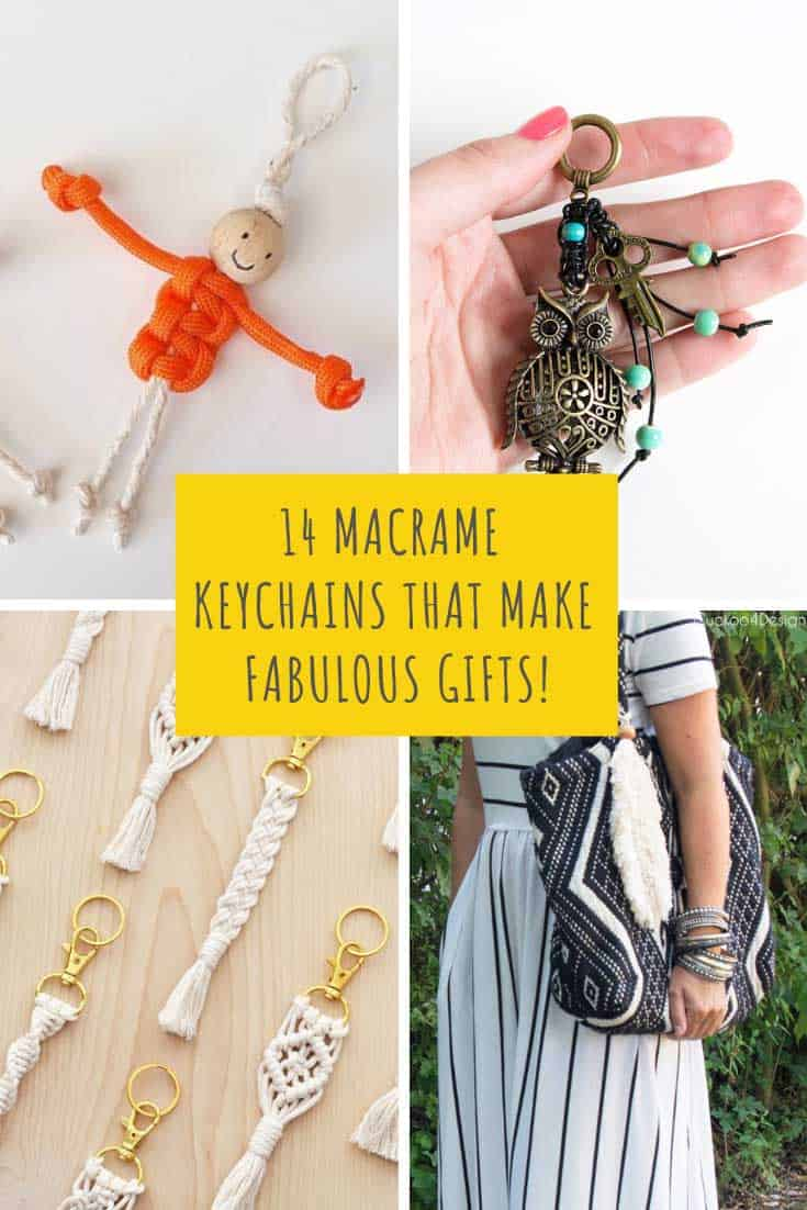 These macrame keychains are easy to make and will turn into wonderful handmade gifts for your family and friends. Perfect for Mother's Day or as a Christmas stocking stuffer. I bet your child's teacher would love one too!