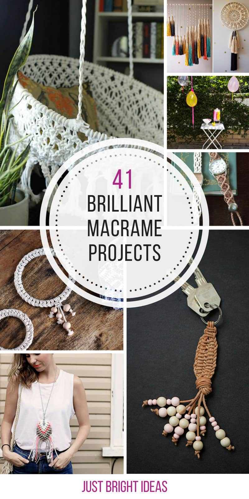 These macrame projects are totally amazing! Thanks for sharing!