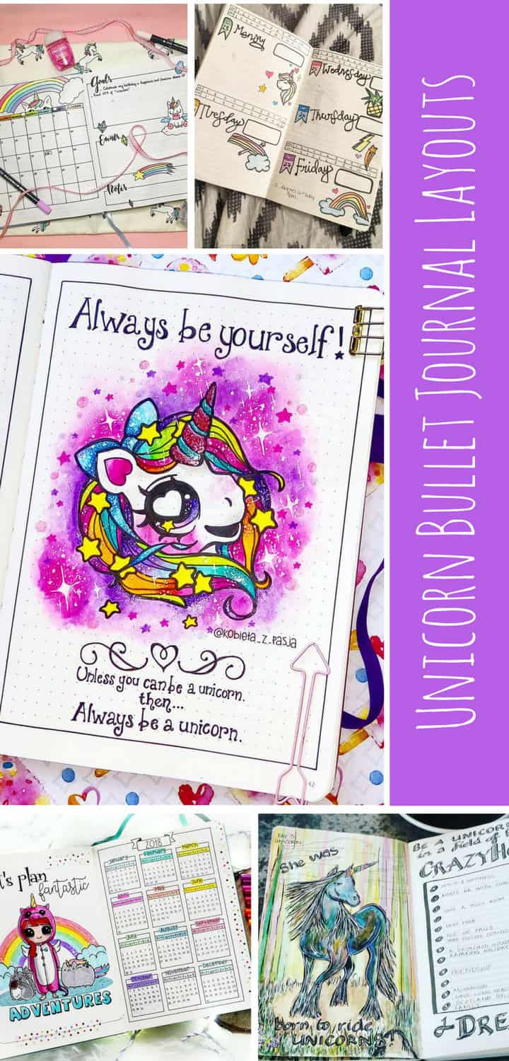 Magical Unicorn Bullet Journal Layouts - Pinterest