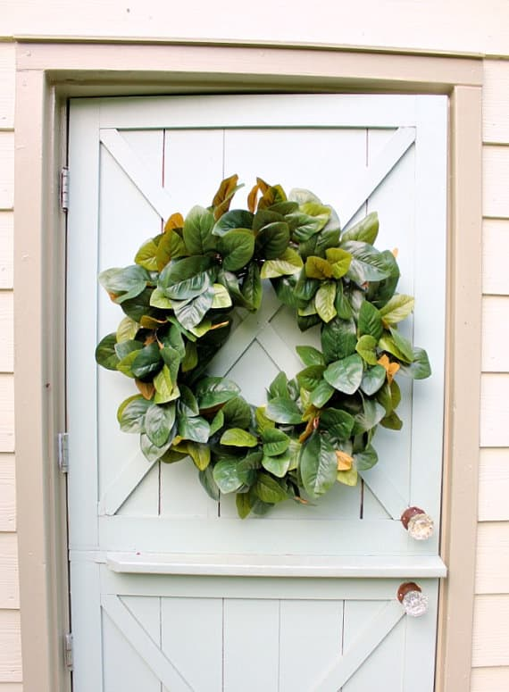 Magnolia Wreath Fixer Upper Farmhouse