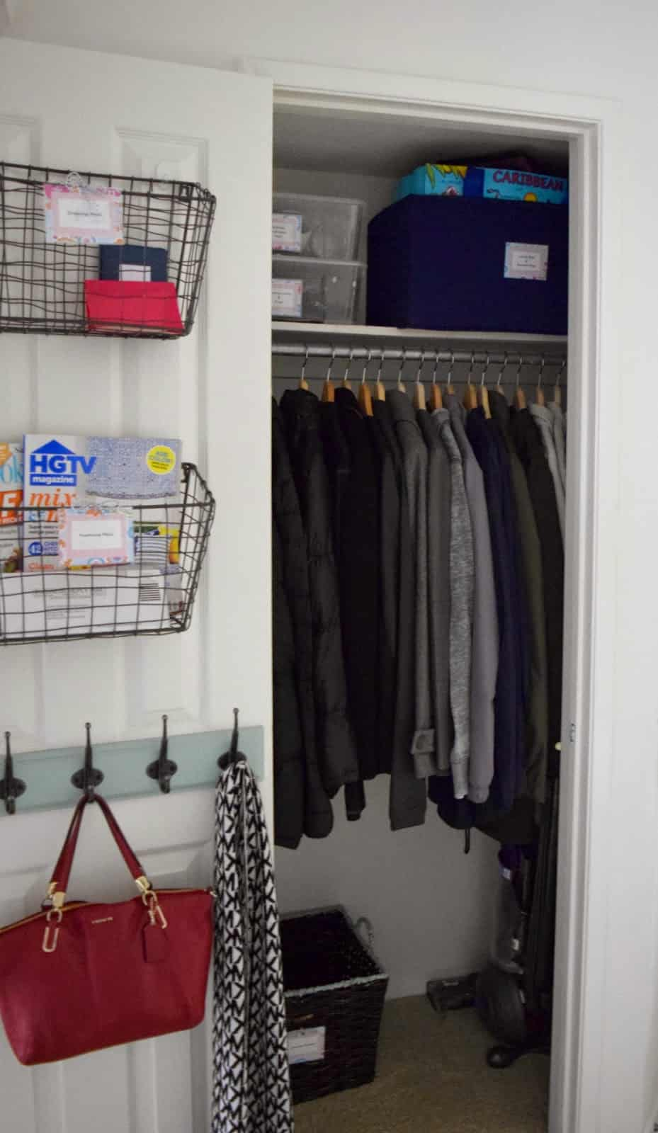 Create a drop zone in your front closet