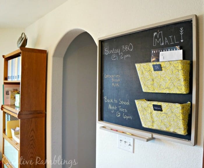 Mail Station with Chalkboard Notice Board