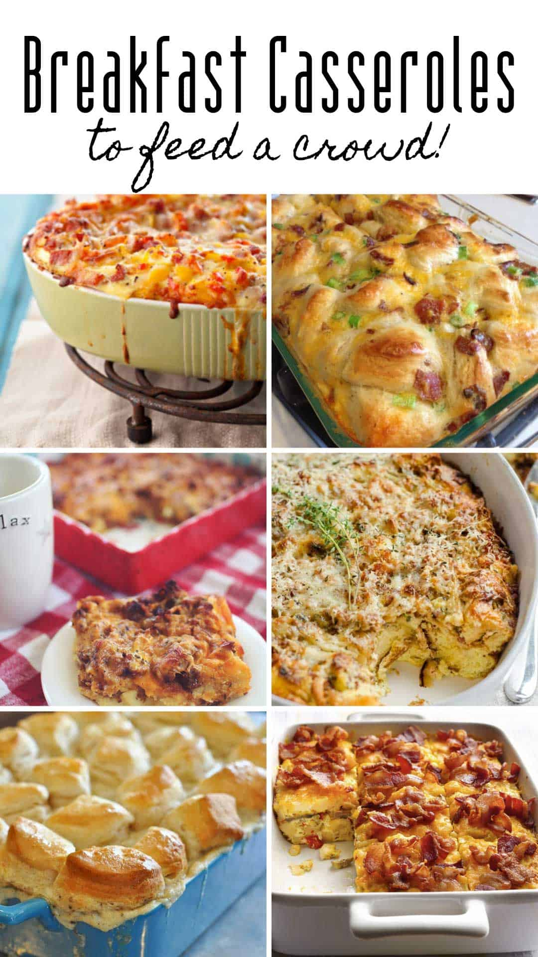 These make ahead breakfast casserole recipes are easy to make and will impress your brunch guests whatever the occasion! #breakfastcasserole #food #recipes