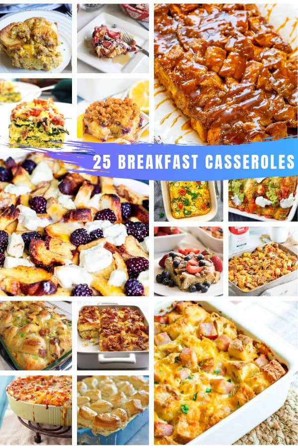 Oh my - so many delicious make ahead breakfast casseroles that are perfect for family brunches #breakfast #recipe #food #potluck