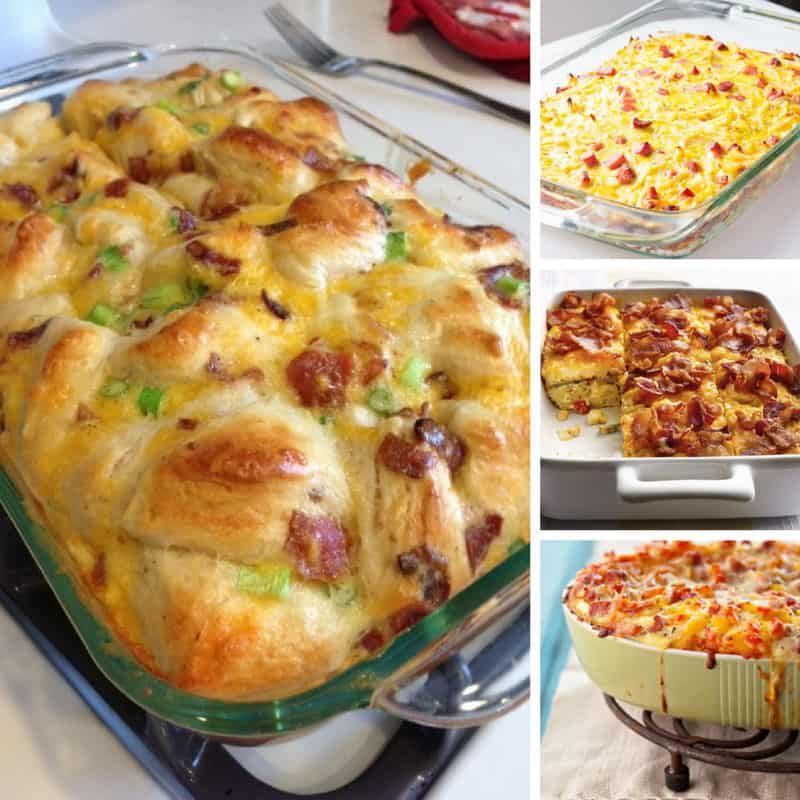 These make ahead breakfast casseroles are perfect for the weekends I need to feed a crowd!