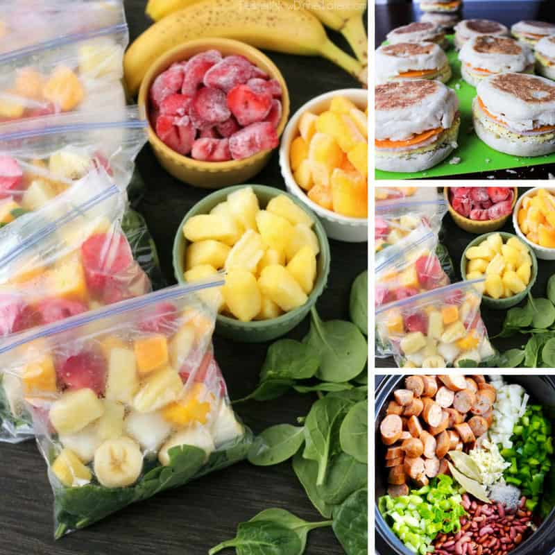 These make ahead freezer meals are so easy to prepare - and makes dinner prep much less stressful!