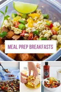 Meal prepping breakfast makes our mornings so much LESS stressful! Thanks for sharing!