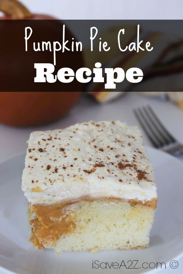 Make Ahead Pumpkin Pie Cake