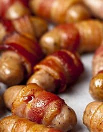 Make Ahead Sausages Wrapped in Bacon