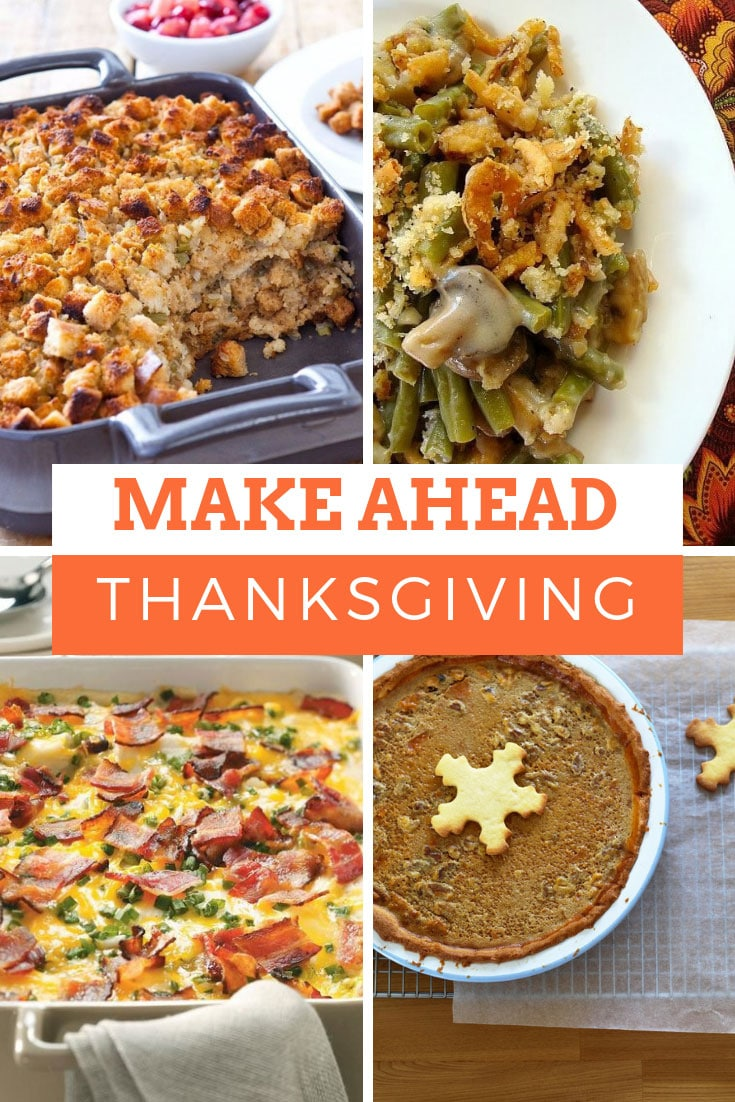 Make Ahead Thanksgiving Menu