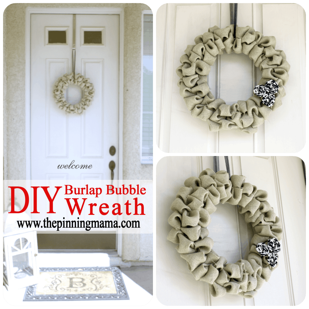 Make Burlap Wreath Christmas 1