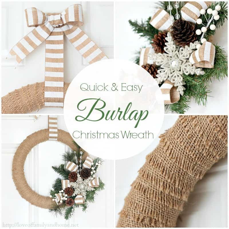 Make Burlap Wreath Christmas 6