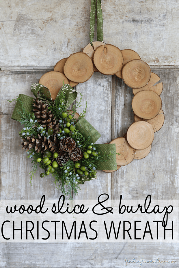 Make Burlap Wreath Christmas 7