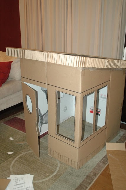 Make Cardboard Playhouse Kids