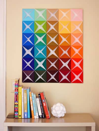 Make Easy DIY Wall Art from Folded Paper