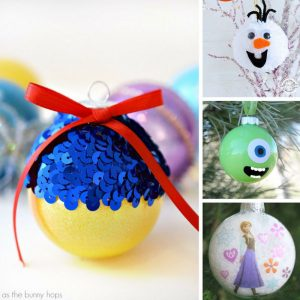 How cute are these DIY Disney ornaments! I can't wait to make the Olaf one!
