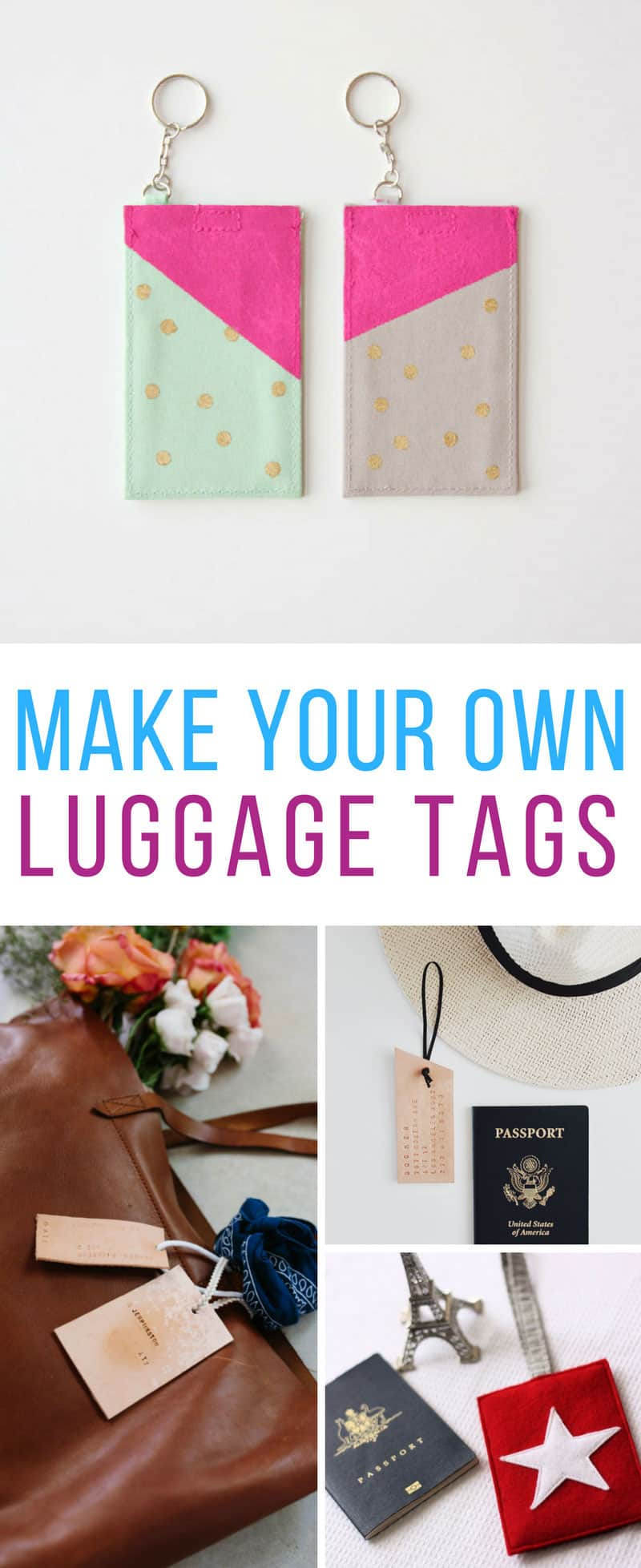 Loving these make your own luggage tag crafts!