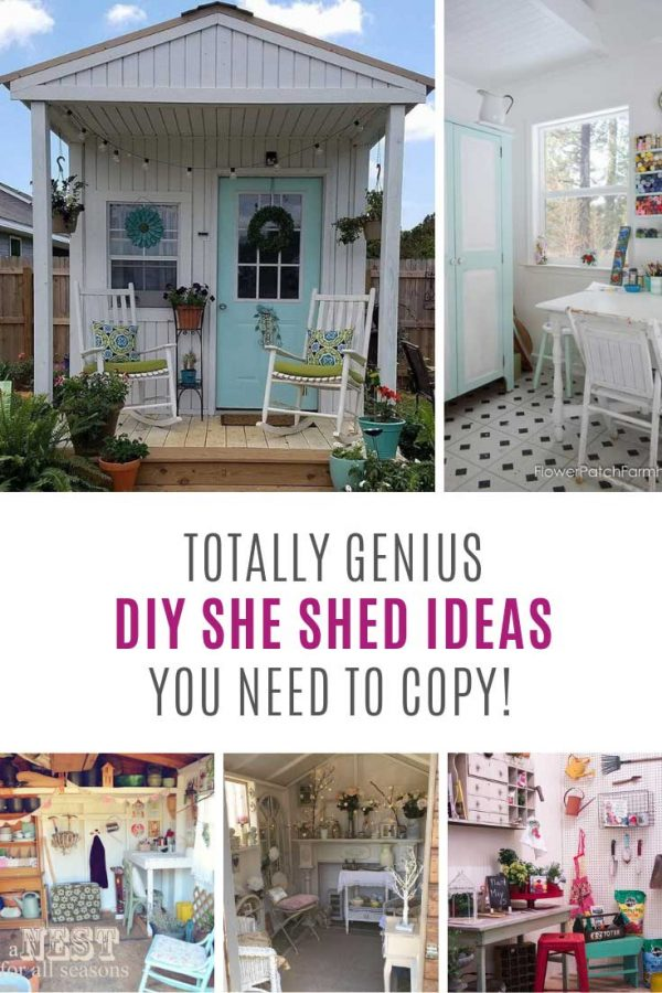 Totally need to make your own she shed at the bottom of the garden!