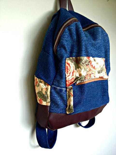 Make a Backpack Using Denim Scraps