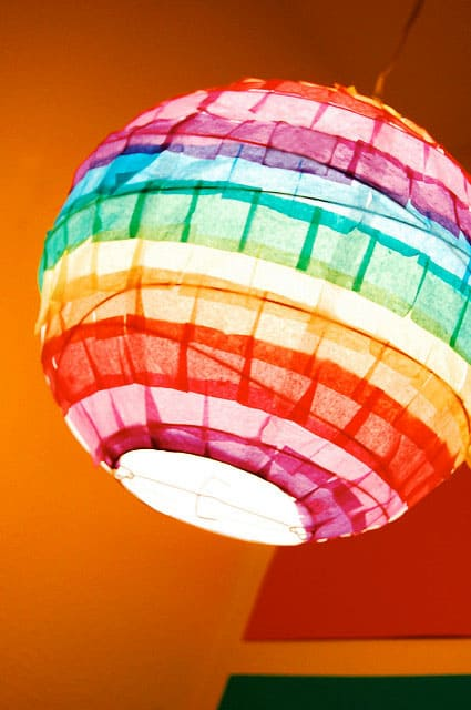 Make a Rainbow Bright Paper Lantern