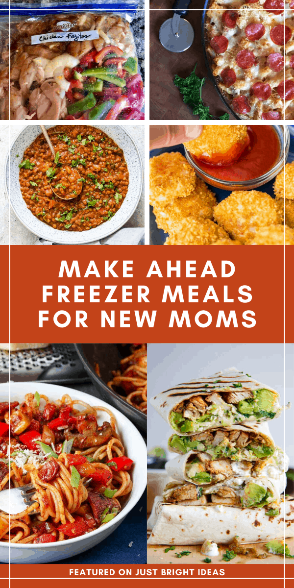 These easy make ahead freezer meals for new moms are just what you need to take the stress out of feeding your family while you are nursing or looking after your new baby #freezermeals