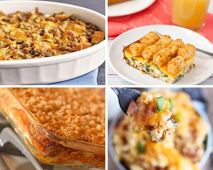 These make-ahead egg casserole recipes are perfect for feeding a crowd for breakfast or brunch. They make great Breakfast for Dinner options too!