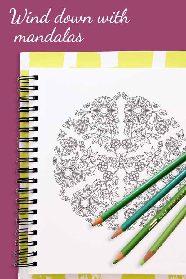 Coloring and journaling can help your mind rest which leads to a better night's sleep. Each evening color in one of the beautiful mandalas while you reflect on your day, you can then write your thoughts down on the dot grid journal page.
